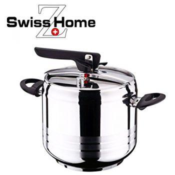 1 o 2 ollas a presión rápidas de acero inoxidable Swiss Home